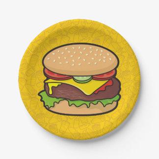 Cheeseburger Paper Plate