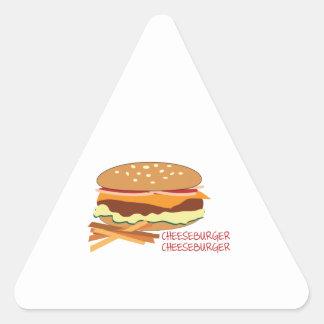 Cheeseburger Calcomanías De Triangulos Personalizadas