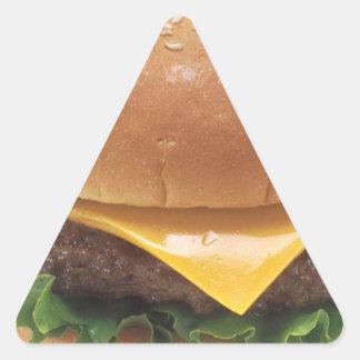 Cheeseburger Pegatina Triangular