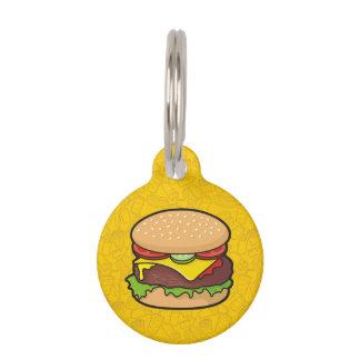 Cheeseburger Pet ID Tag