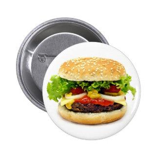 Cheeseburger Pin Redondo De 2 Pulgadas