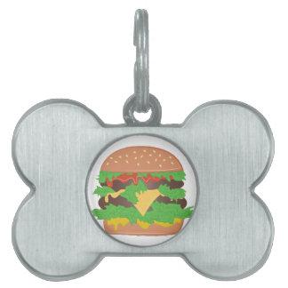 Cheeseburger Placas Mascota