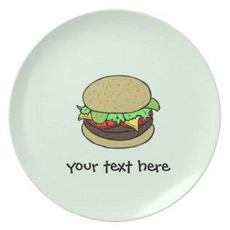 Cheeseburger Party Plates