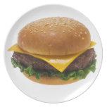 Cheeseburger Plato De Cena