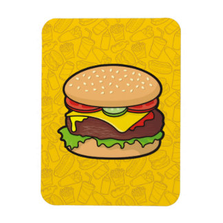 Cheeseburger Rectangular Photo Magnet