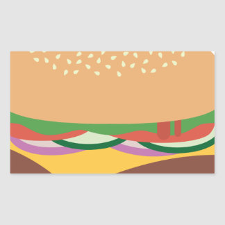 Cheeseburger Rectangular Sticker