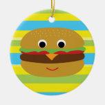 Cheeseburger retro ornatos