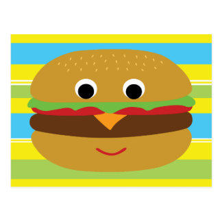 Cheeseburger retro postal