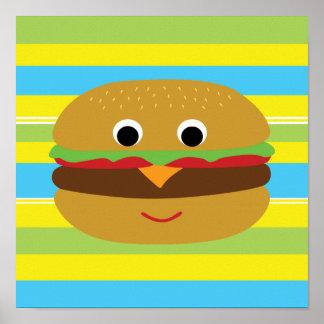 Cheeseburger retro póster