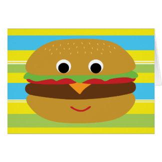 Cheeseburger retro tarjeta de felicitación