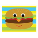 Cheeseburger retro tarjeta postal