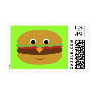 Cheeseburger retro timbres postales