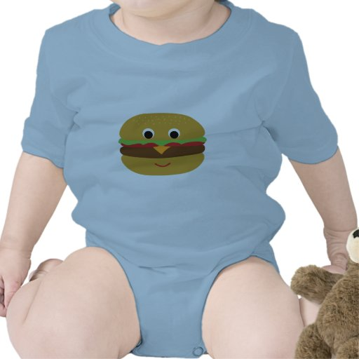 Cheeseburger retro traje de bebé