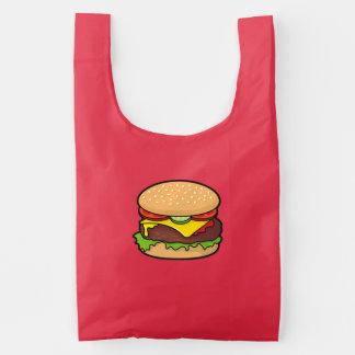 Cheeseburger Reusable Bag