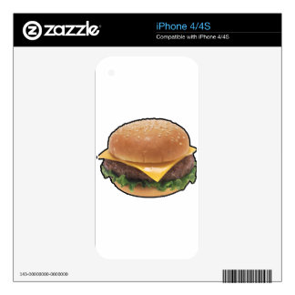 Cheeseburger iPhone 4S Decal