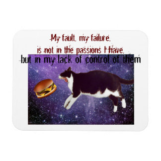 cheeseburger space cat magnet