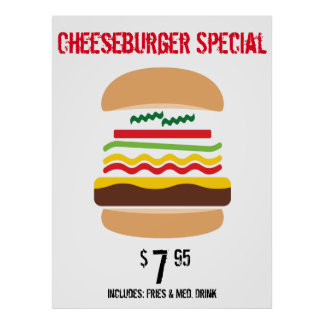 Cheeseburger Special (customize) Poster