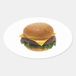 Cheeseburger Oval Sticker