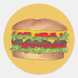 Cheeseburger Stickers