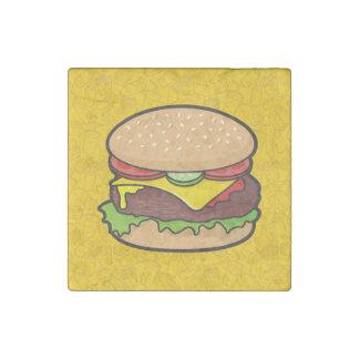 Cheeseburger Stone Magnet