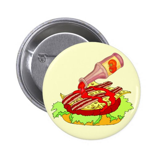 Cheeseburger suizo del tocino con la salsa de toma pin