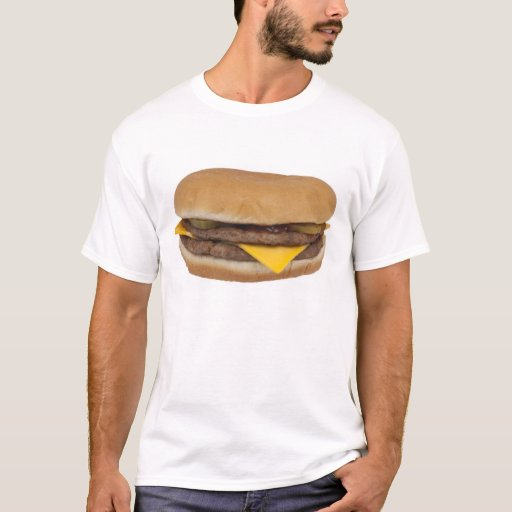 Cheeseburger t shirt zazzle for What takes motor oil out of clothes