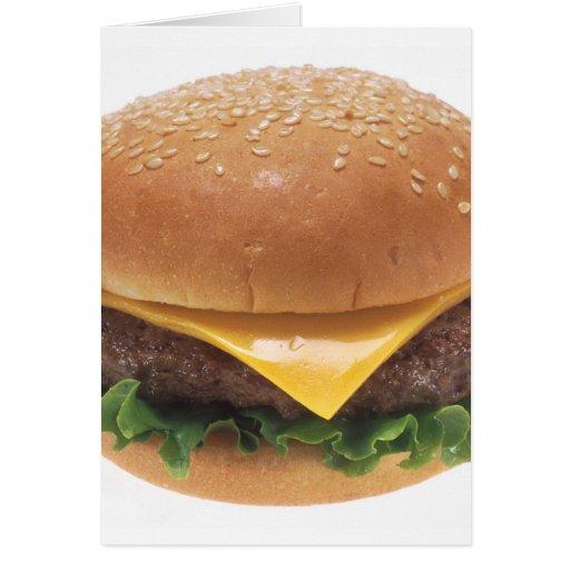 Cheeseburger Tarjeta De Felicitación
