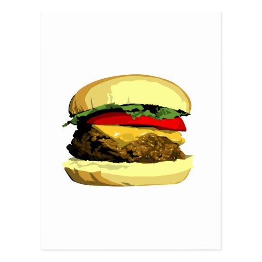 Cheeseburger Tarjeta Postal