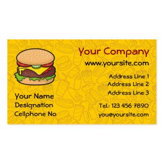 Cheeseburger Tarjetas De Visita