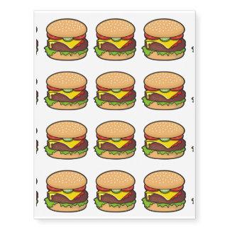 Cheeseburger Temporary Tattoos