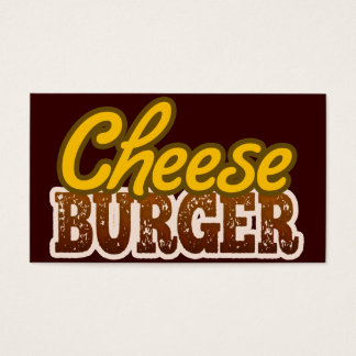 Cheeseburger Text Design Business Card