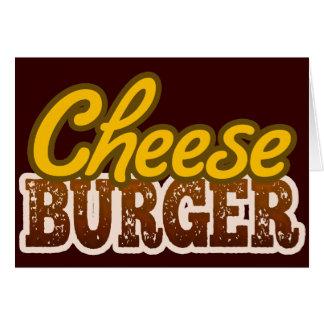 Cheeseburger Text Design Greeting Card
