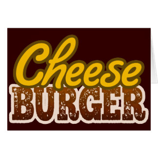 Cheeseburger Text Design Stationery Note Card