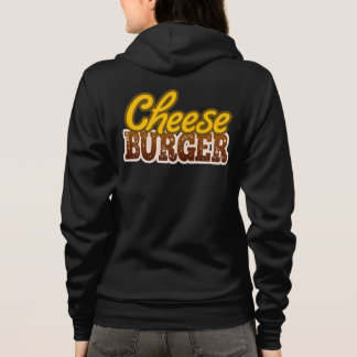Cheeseburger Text Design Hoodie