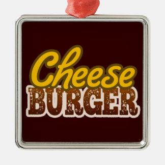 Cheeseburger Text Design Christmas Ornaments