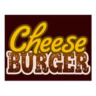 Cheeseburger Text Design Postcard