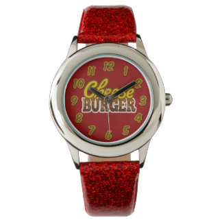 Cheeseburger Text Design Wrist Watch