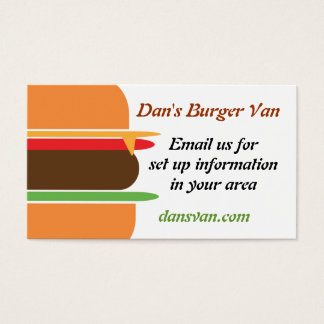 Cheeseburger themed business card