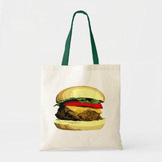 Cheeseburger tote budget tote bag