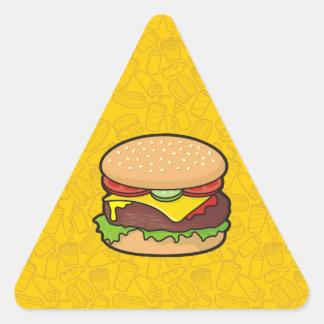 Cheeseburger Triangle Sticker