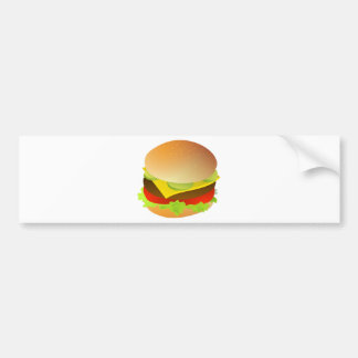 Cheeseburger with Lettuce, Tomato, and Pickles Bumper Sticker
