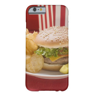 Cheeseburger with potato crisps and gherkin barely there iPhone 6 case