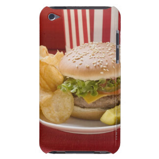 Cheeseburger with potato crisps and gherkin iPod touch case