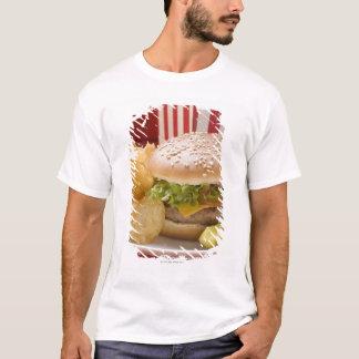 Cheeseburger with potato crisps and gherkin T-Shirt