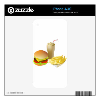 Cheeseburger - WOWCOCO Skin For The iPhone 4