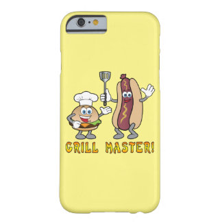 Cheeseburger y perrito caliente Grill Master Funda Barely There iPhone 6