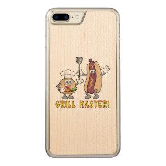 Cheeseburger y perrito caliente Grill Master Funda Para iPhone 7