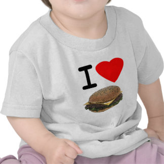 Cheeseburgers divertidos del amor de I Camisetas