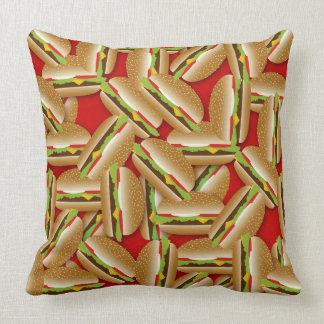Cheeseburgers Galore Throw Pillow
