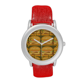 Cheeseburgers lindos relojes de pulsera